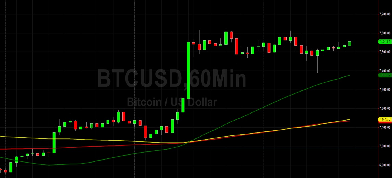 Bids at 7490 Give BTC/USD Bulls Optimism:  Sally Ho's Technical Analysis 25 April 2020 BTC