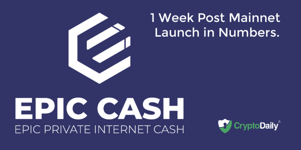 Last Week On September 2, 2019, The Epic Cash Mainnet Launched