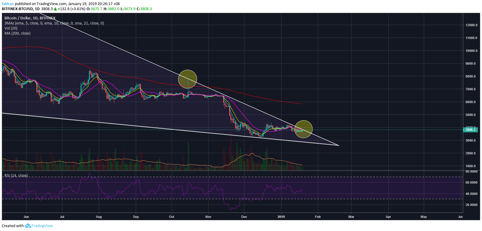 Bitcoin (BTC) Rallies But Faces Strong Rejection At Trend Line Resistance
