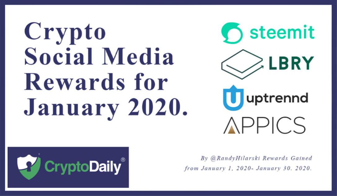 Crypto Social Media Rewards for January 2020.