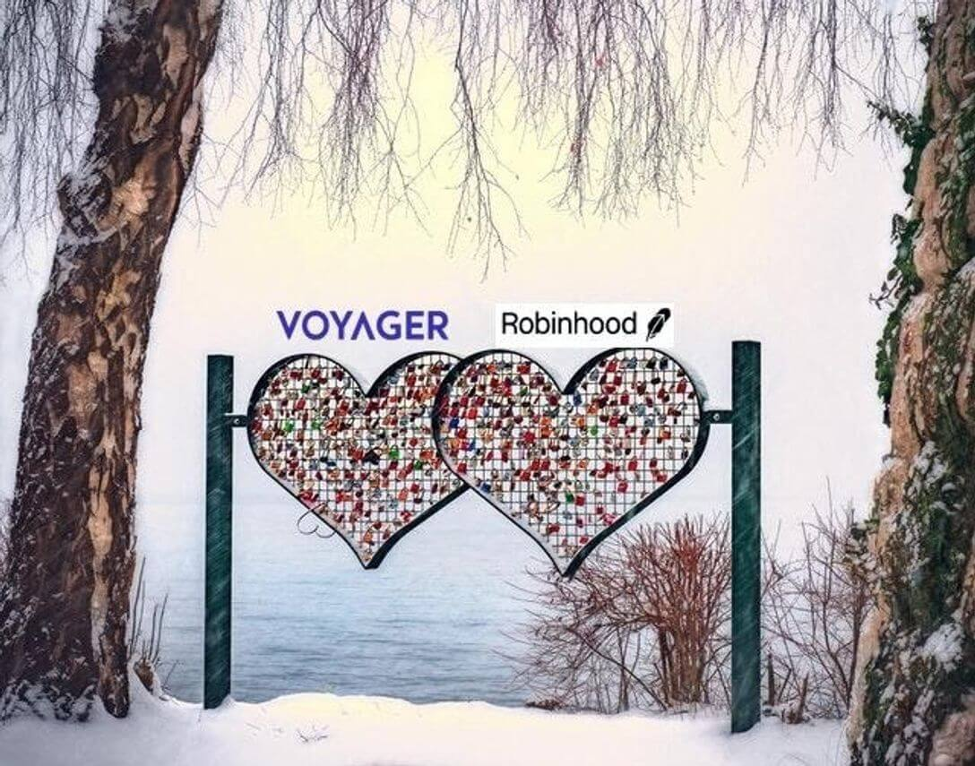 A Bitcoin And Stock Love Triangle: Earn Free Bitcoin And Stocks This Valentines Week With Voyager And Robinhood