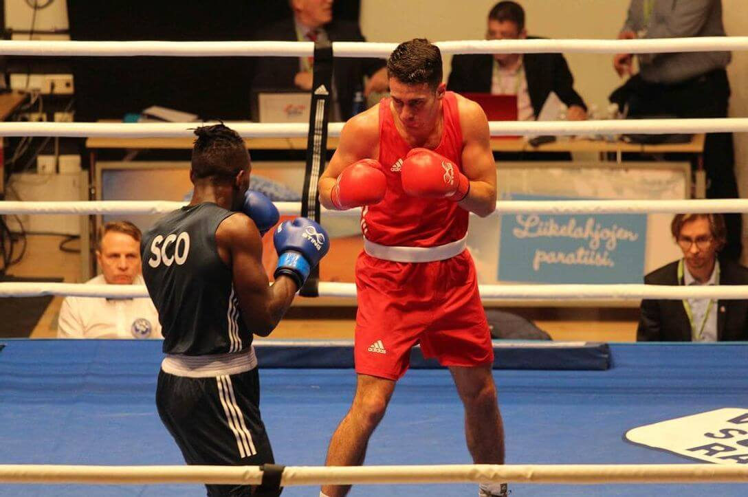 Dragon Ambassador George Crotty in English Boxing National Finals